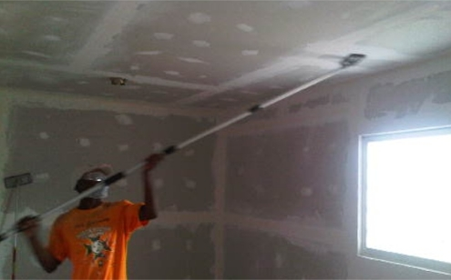 Drywall and Sanding of Orphanage.