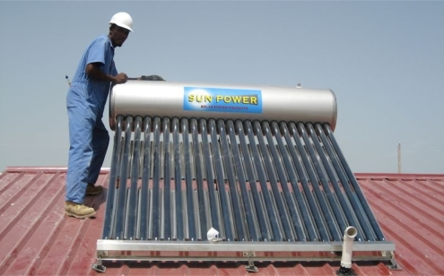 Solar Water Heater to Provide Hot Water.