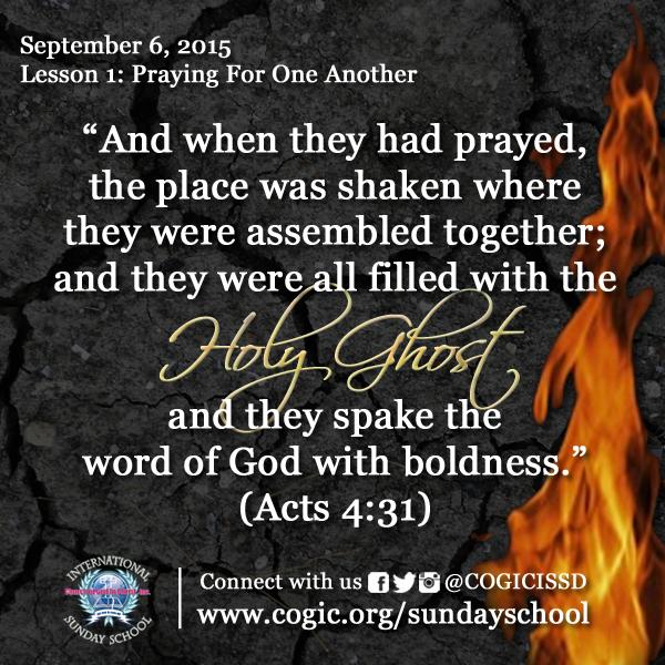 Memory Verse Acts 4 31 International Sunday School