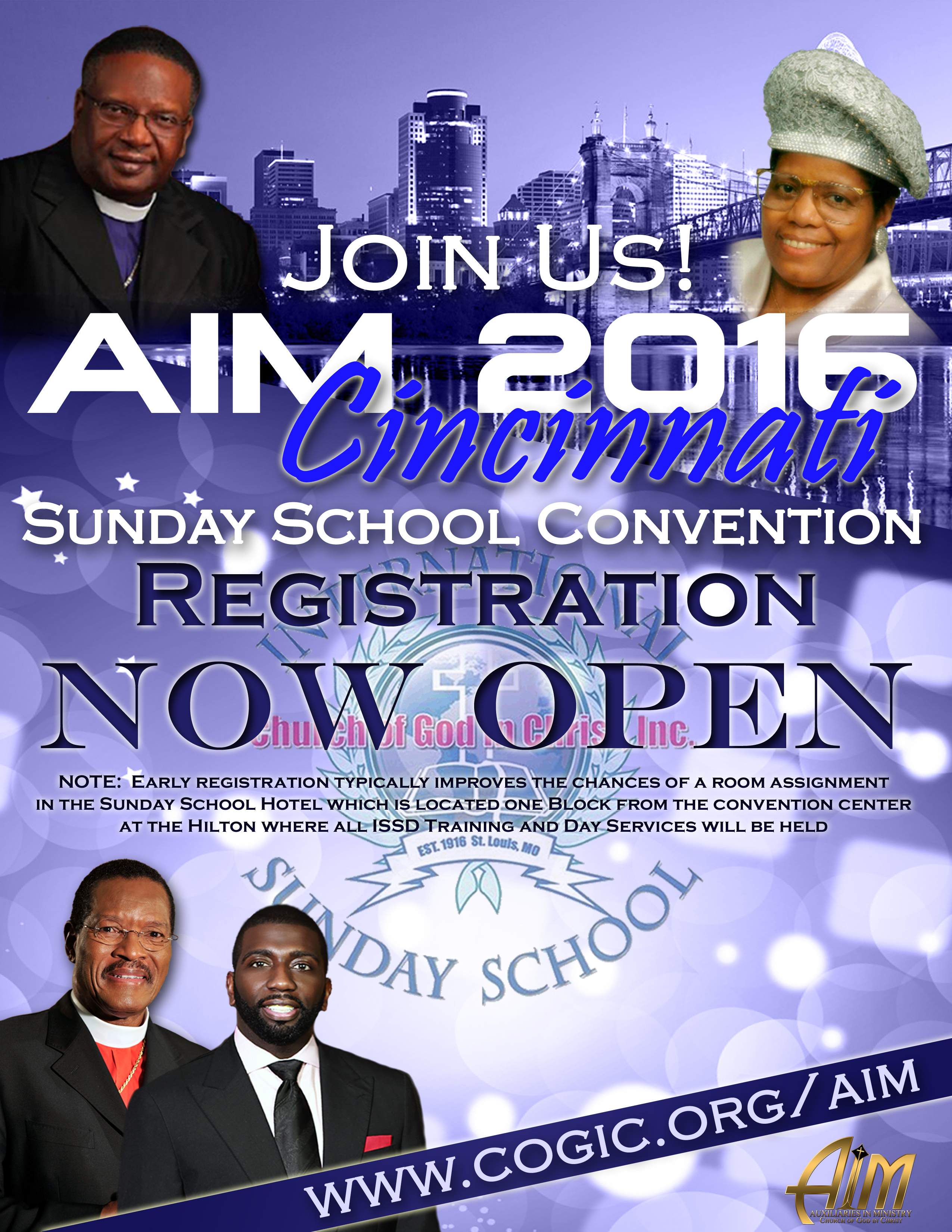 aim registration now open international sunday school department registration flyer