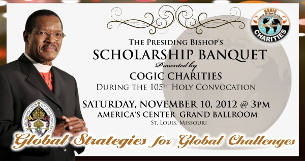 save the date 2012 presiding bishopâ s banquet presented by cogic