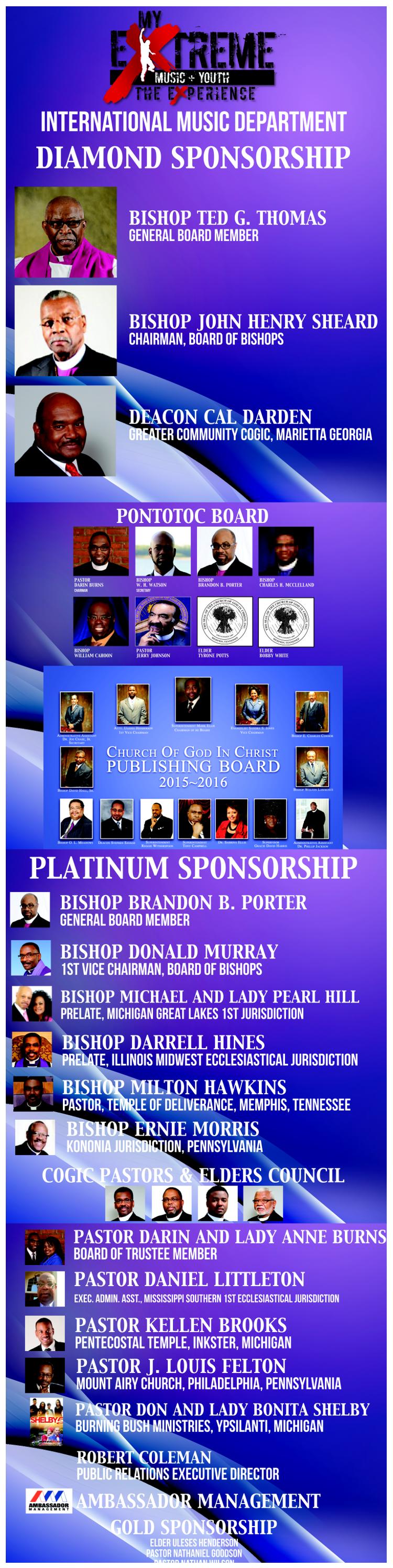 Sponsors for IMD2 – Church Of God In Christ
