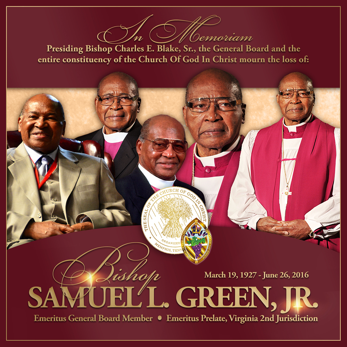 COGIC Mourns the Loss of General Board Member