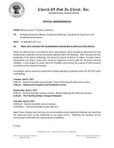 Memo - Final Date Change Apr 2017 Gen Assembly