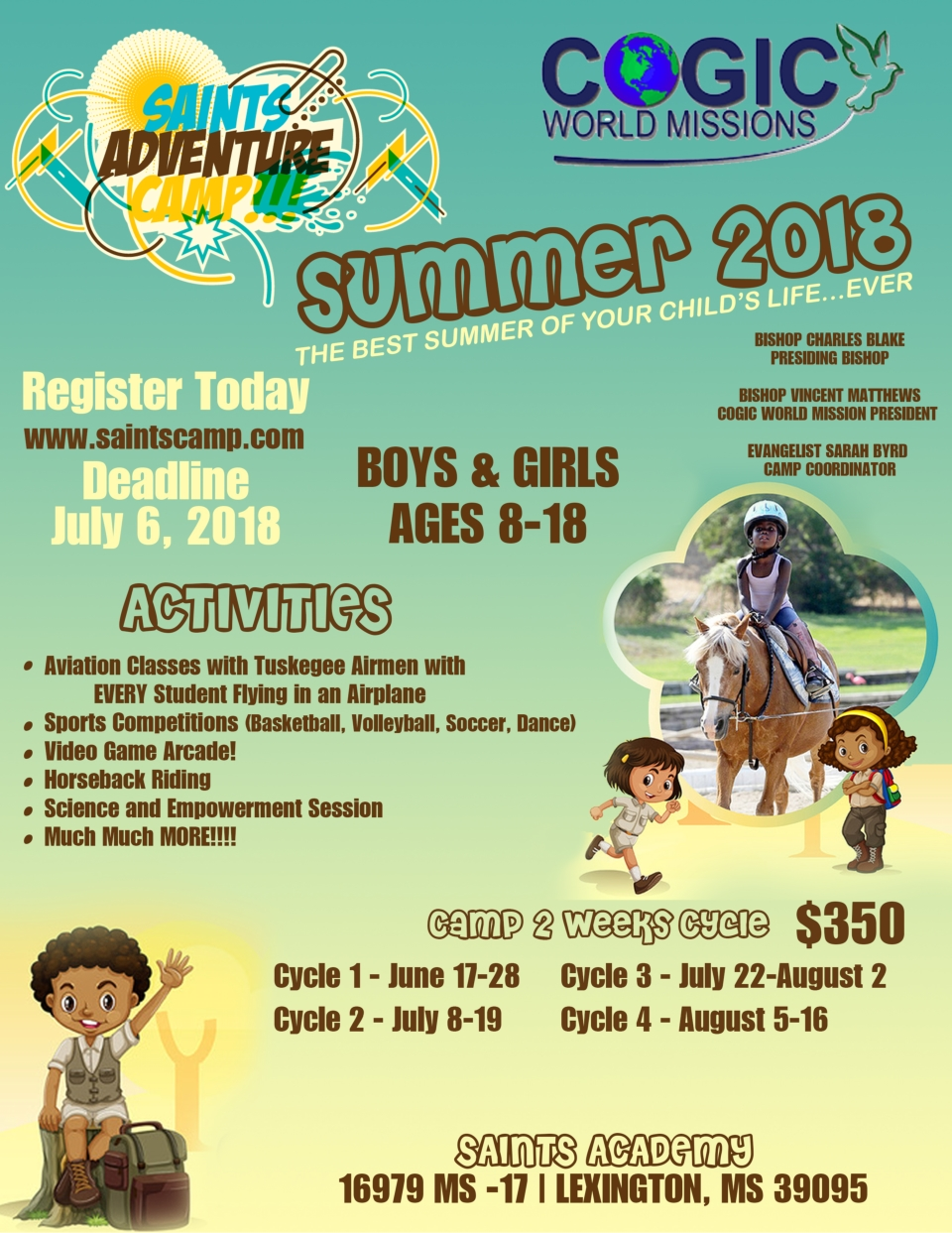 Church Of God In Christ Missions Department - Saints Adventure Summer Camp